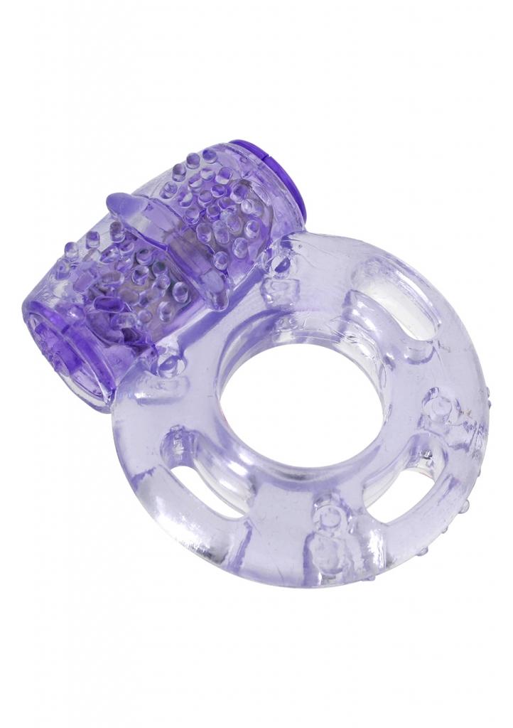 Velmi roztažný kroužek s vibrační patronou, která je opatřena malými výstupky umocňujícími vzrušení. Jeden stupeň vibrací.
