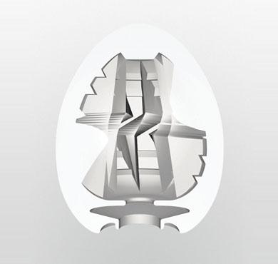 Každý druh masturbátoru Tenga Egg má své specifické tvarování uvnitř vajíčka, které podporuje stimulaci při masturbaci.
