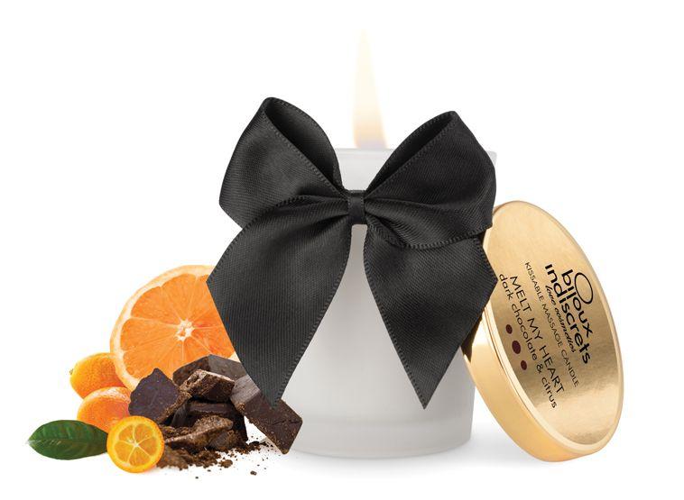 Masážní svíčka Melt My Heart – Hořká čokoláda - Bijoux Indiscrets