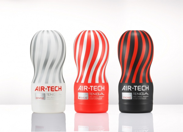 Druhy provedení Tenga Air-Tech, Gentle, Regular, Strong.