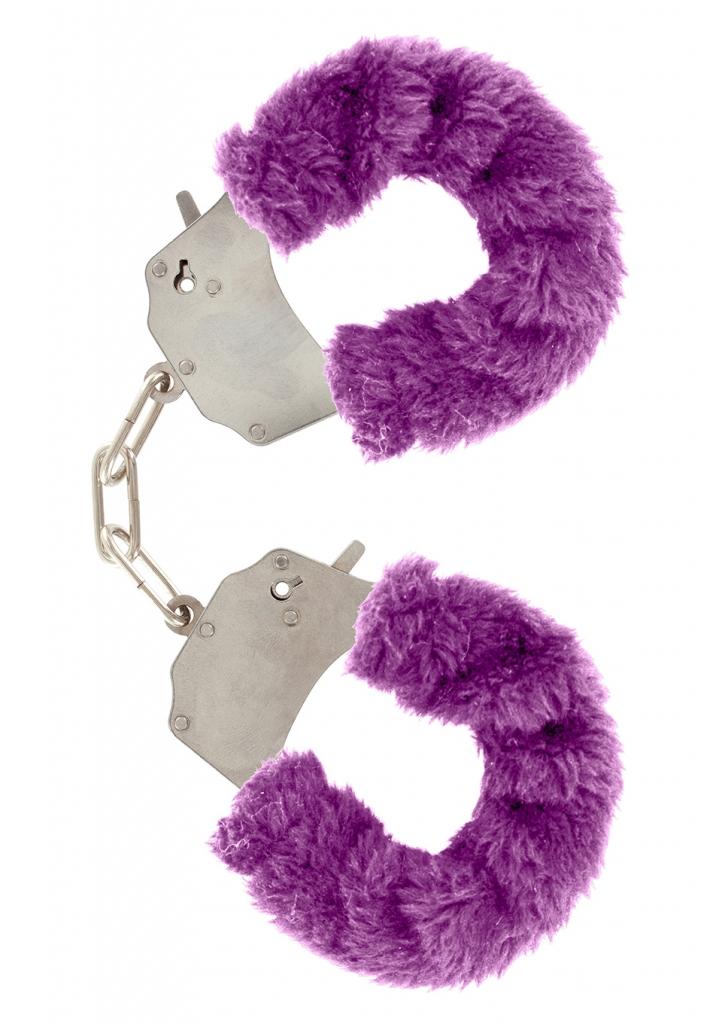 Pouta na ruce plyšová fialová - Toy Joy