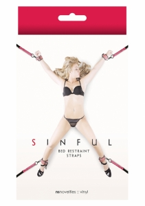 NS Novelties Sinful Bed Restraint Straps pink