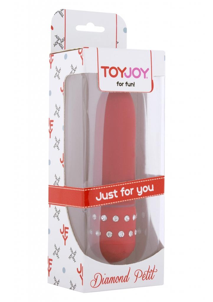 Červený minivibrátor Diamond Red Petit zdobený kamínky, z kvalitního ABS plastu. Broušený, sametově hebký povrch pro lepší pocit. Silné vibrace se přenášejí po celém těle vibrátoru, každá část vás ted…