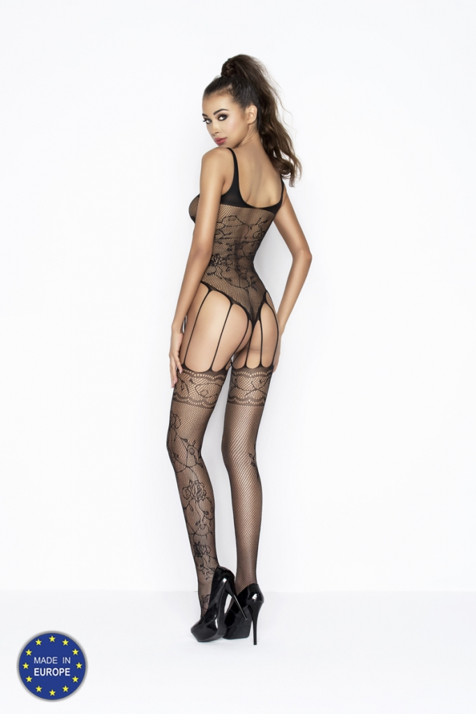 Bodystocking Passion BS034 black, fotografie 1/2