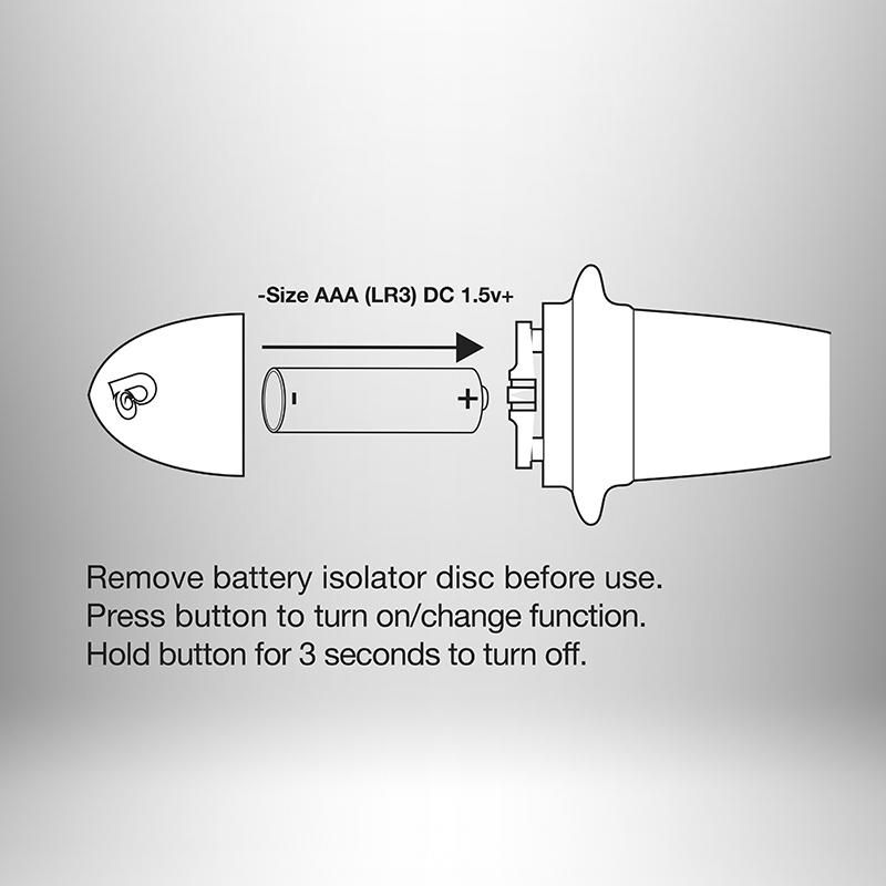 Objevte dokonalou kombinaci vibračních programů, které Vás rozvášní. Vibrátor je poháněn 1ks baterie AAA, která je součástí balení.