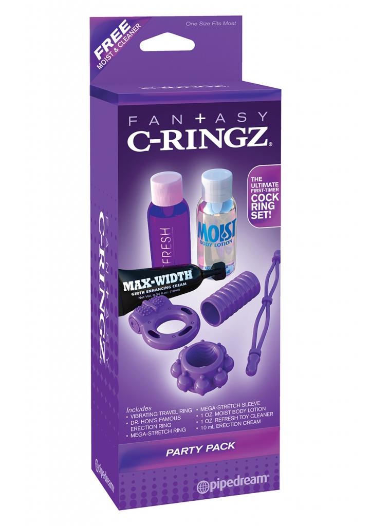 Fantazy C-Ringz jasou jednou z nejlepších erotických pomůcek pro páry, protože stimulují muže i ženy současně. Omezením průtoku krve v penisu zlepší kroužky jeho velikost a vytrvalost a ženě pomohou …