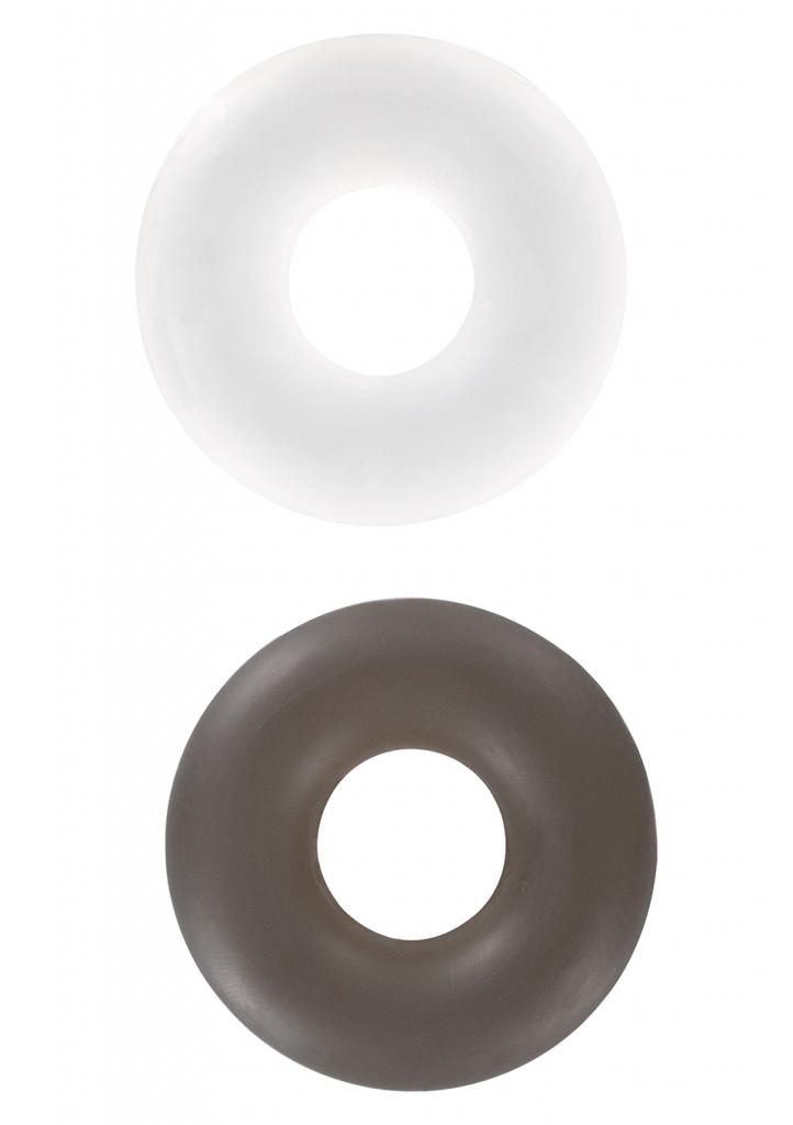Erekční kroužky Stud Rings clear/smoke 2ks - Toy Joy