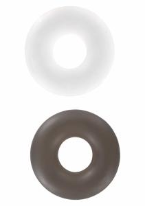 Erekční kroužky Stud Rings clear/smoke 2ks - ToyJoy