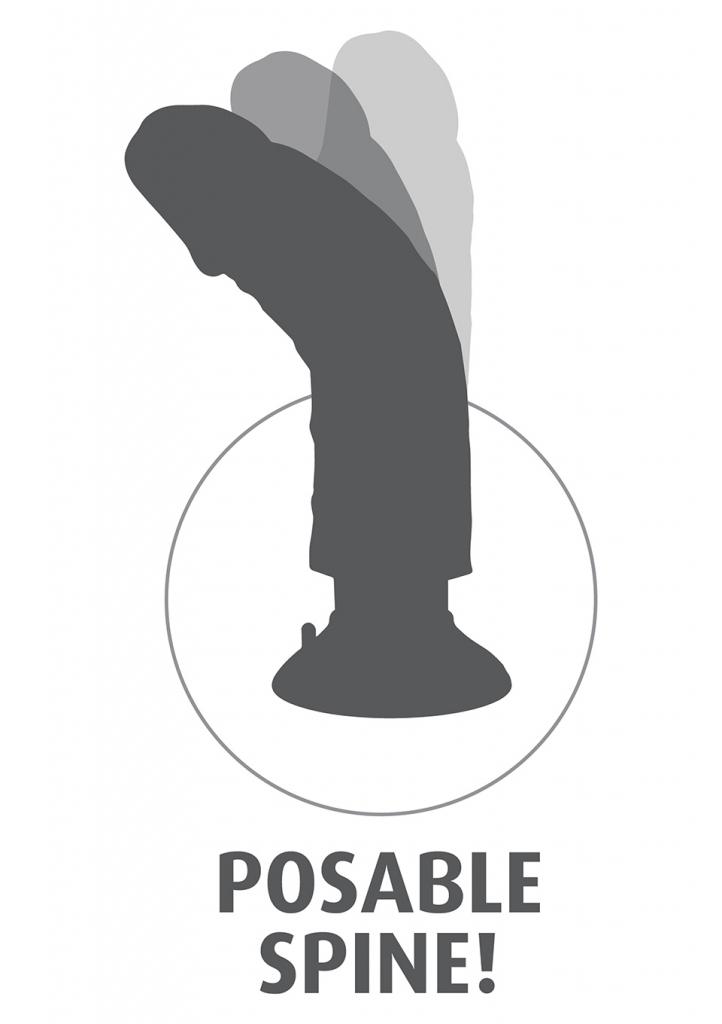 King Cock Vibrating Cock má ohebné tělo, které umožňuje vibrátor tvarovat tak, aby odpovídal křivkám vašeho těla