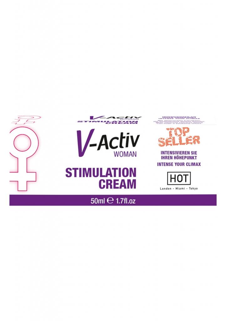 V-Activ Stimulation Cream je krém se silným účinkem na prokrvení genitálií vzrušení pohlavních orgánů.