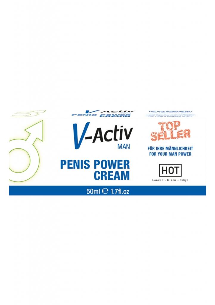 V-Activ Penis Power Cream může okamžitě ovlivnit prokrvení penisu.