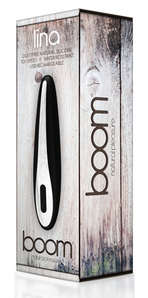 Vibrátor Boom Lina black - Shots Toys, fotografie 1/1