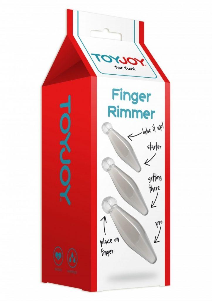 ToyJoy - Sada análních kolíků Finger Rimmer transparentní 3ks