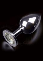 Anální kolík kovový s krystalem Jewellery Large Silver Diamond silver - Dolce Piccante