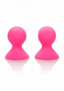 Calexotics Silicon Pro Nipple Suckers Přísavky na bradavky růžové