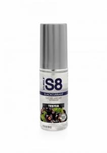 S8 Lubrikant na vodní bázi s příchutí černý rybíz 50ml TESTER - Stimul8