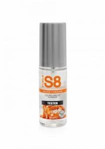 S8 Lubrikant na vodní bázi s příchutí slaný karamel 50ml TESTER - Stimul8