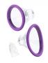 Intenzivní sání s 2 vyměnitelnými sacími pohárky různé velikosti pro lepší přizpůsobení se vašim křivkám