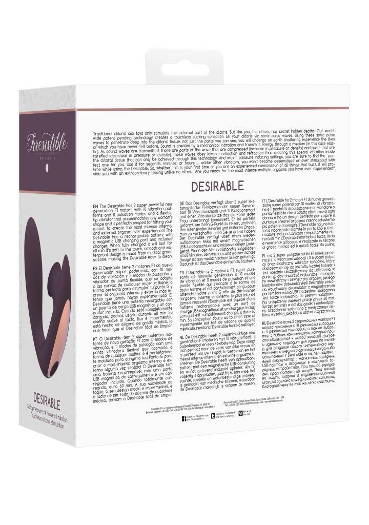 Shots - Irresistible Desirable purple vibrátor se stimulátorem klitorisu