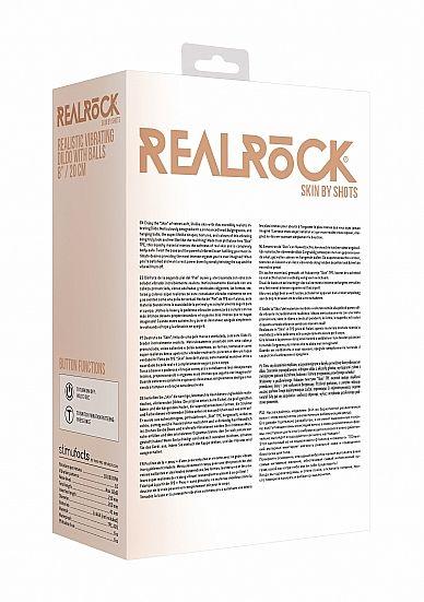Shots - RealRock Realistic Vibrating Dildo with Balls 20cm Flesh vibrátor