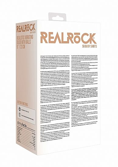 Shots - RealRock Realistic Vibrating Dildo with Balls 23cm Flesh vibrátor