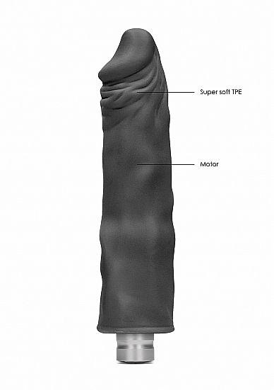 Shots - RealRock Realistic Vibrating Dildo 25cm Black vibrátor