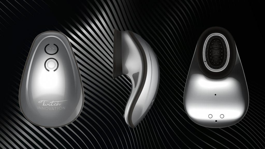 Shots Innovation Twitch Hands-Free Suction & Vibration Toy Silver stimulátor klitorisu