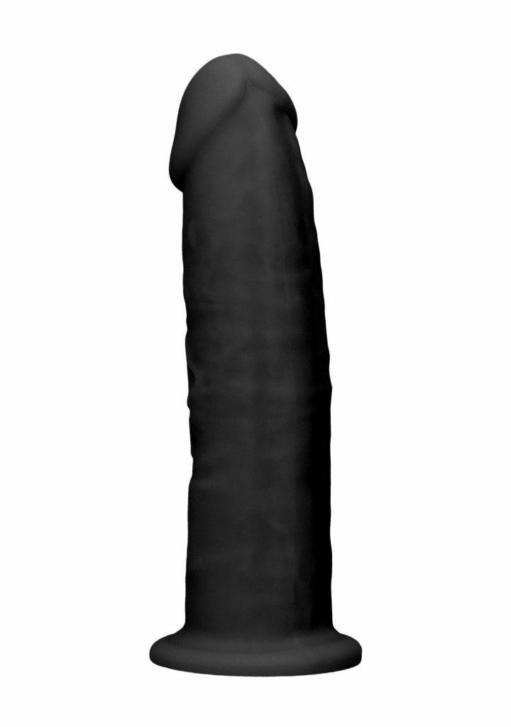 Shots REALROCK 15,3 cm Dual Density Silicone Dildo Black