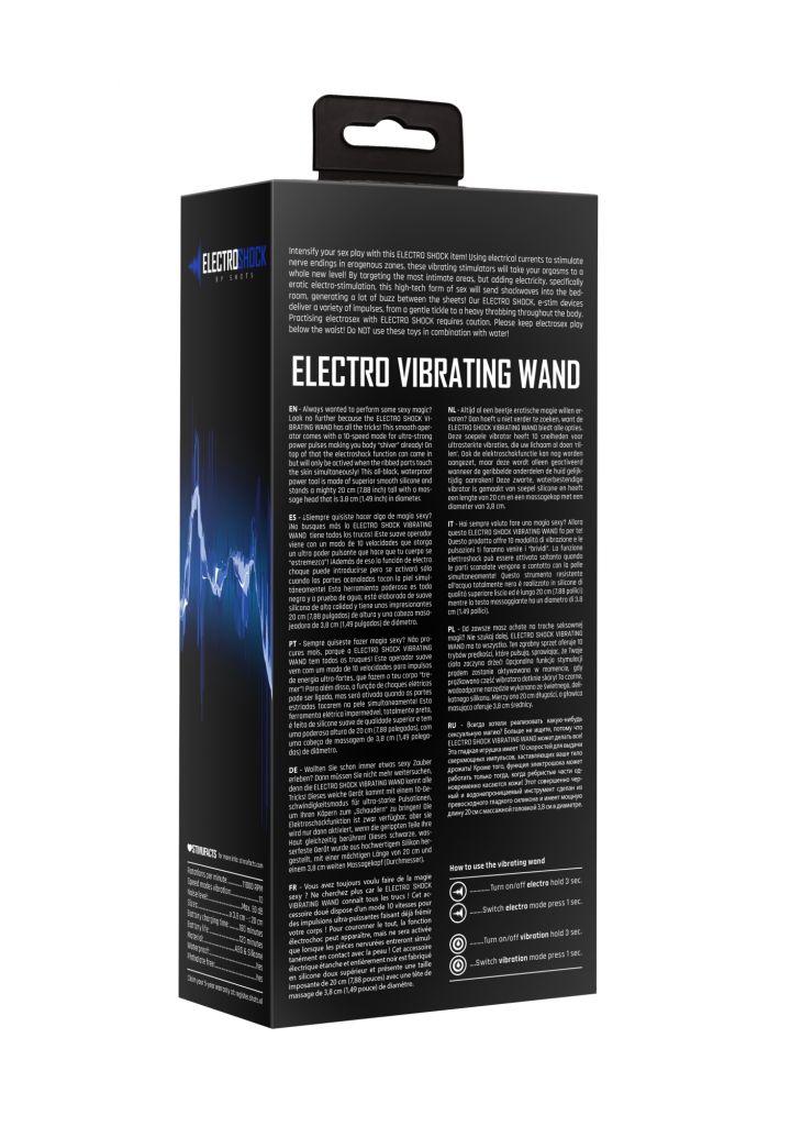 Shots ElectroShock Electro Vibrating Wand - elektrostimulační hlavice