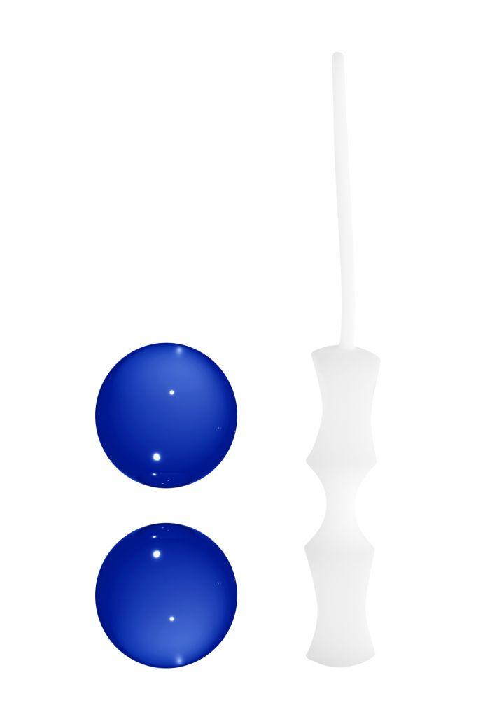 Shots Chrystalino Ben Wa Small blue skleněné venušiny kuličky