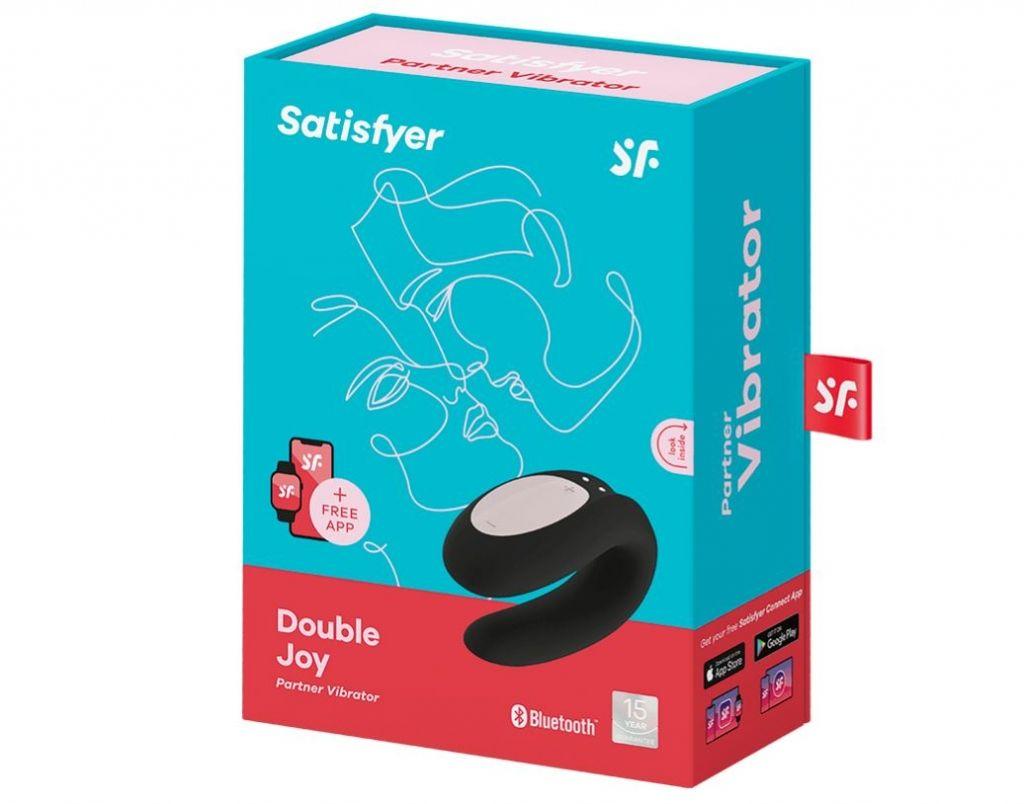 Satisfyer Double Joy černá párový vibrátor