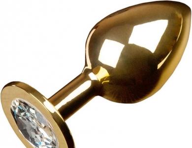 Anální kolík kovový s krystalem Jewellery Large Gold Diamond - Dolce Piccante