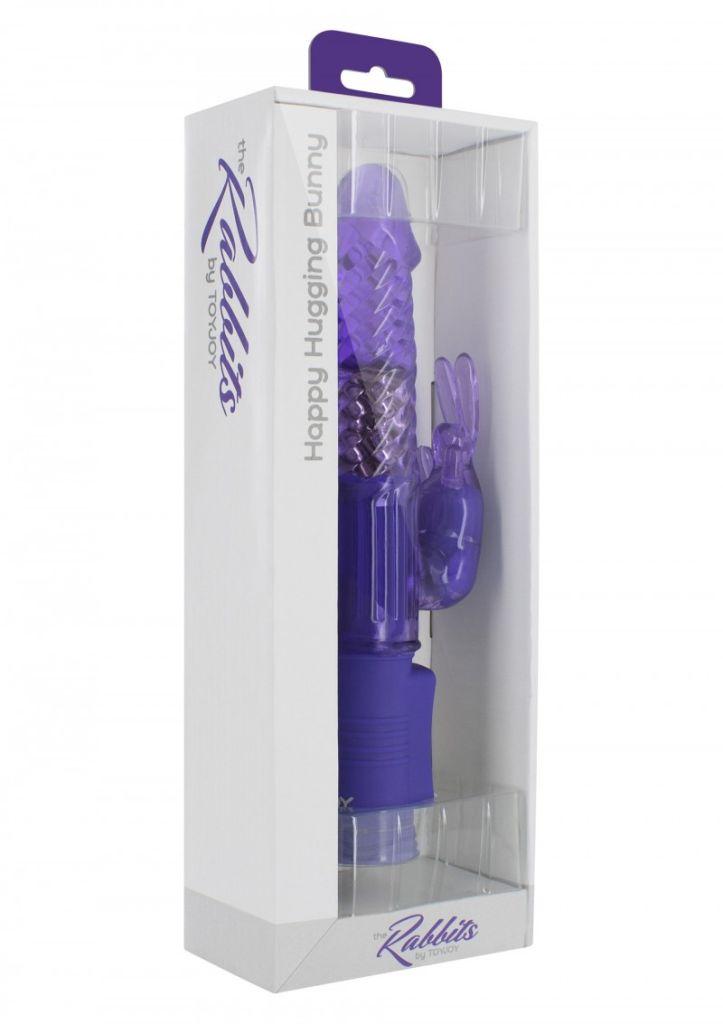 ToyJoy Happy Hugging Bunny purple perličkový vibrátor