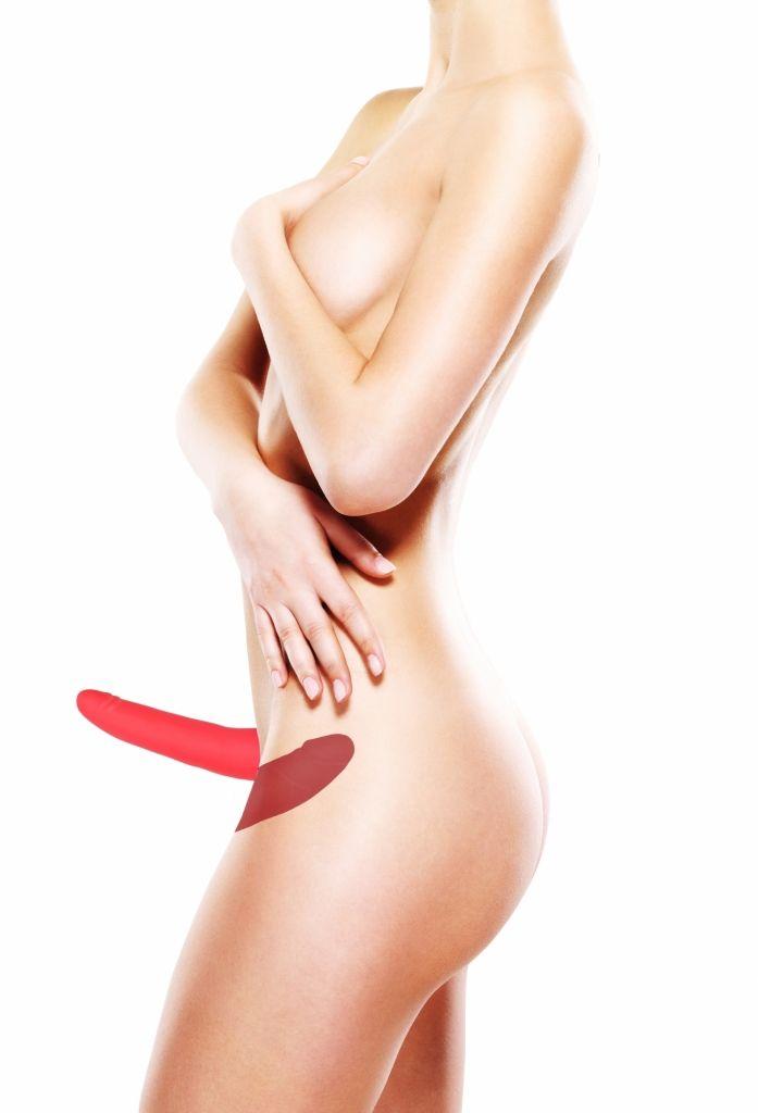 Shots Double Silicone Strap-on Adjustable red dvojitý připínací penis