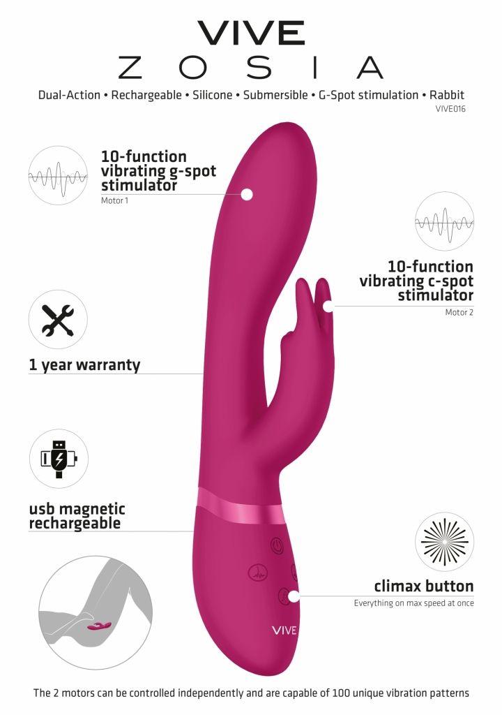 SHOTS VIVE Zosia Classic G-Spot pink vibrátor