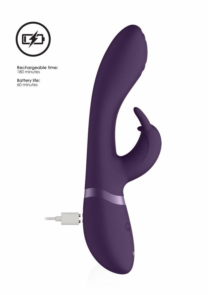 SHOTS  VIVE Cato Pulse G spot Rabbit purple multifunkční vibrátor