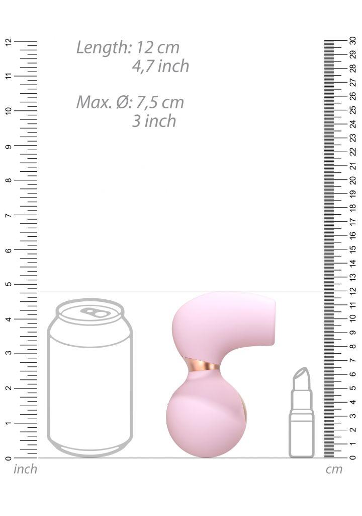 Shots - Irresistible Invincible pink stimulátor klitorisu