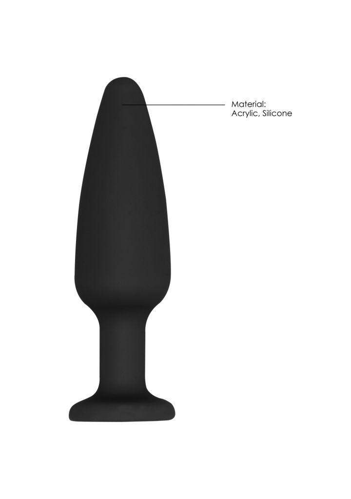Shots - Ouch! Cone-Shaped Diamond Butt Plug black anální kolík