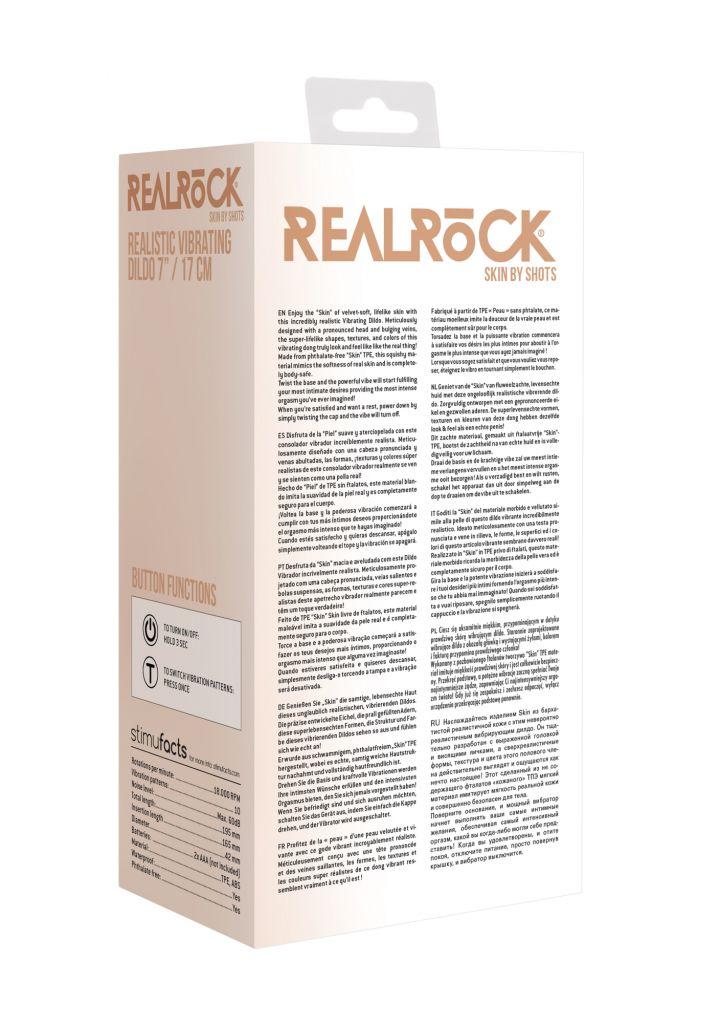 Shots - RealRock Realistic Vibrating Dildo 17cm Flesh vibrátor