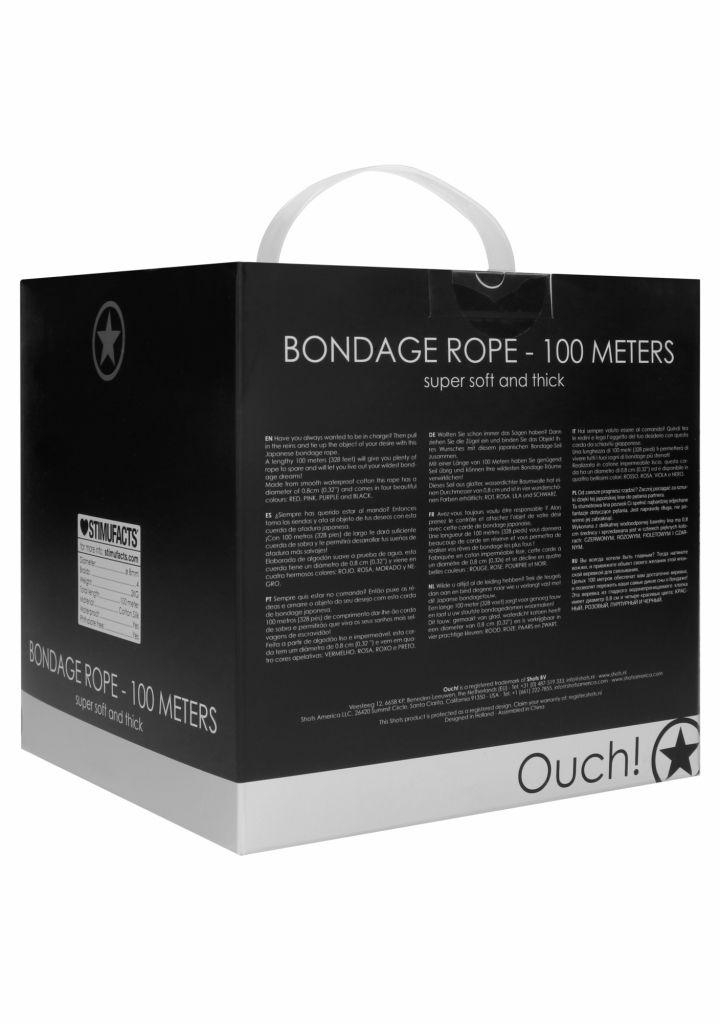 Shots - Ouch! Bondage Rope 100 Meters Black bondážní lano