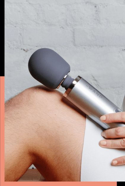 Le Wand Rechargeable Massager Grey masážní hlavice