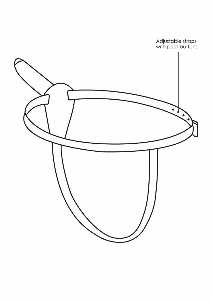 Shots Ouch Vibrating Silicone Strap-On-Adjustable připínací penis vibrační