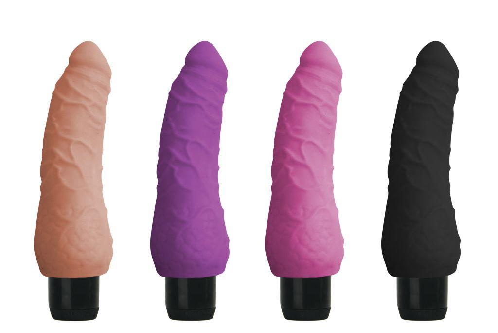 Shots Realistic Skin Vibrator Small purple - realistický vibrátor