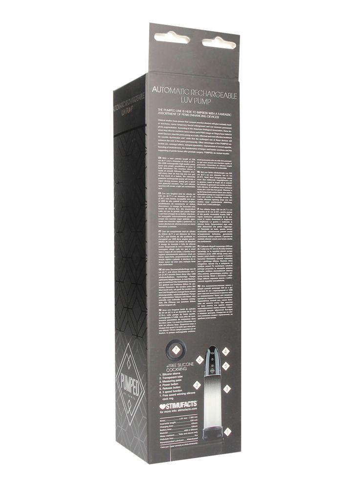 Shots Automatic Rechargeable Luv Pump elektrická vakuová pumpa black