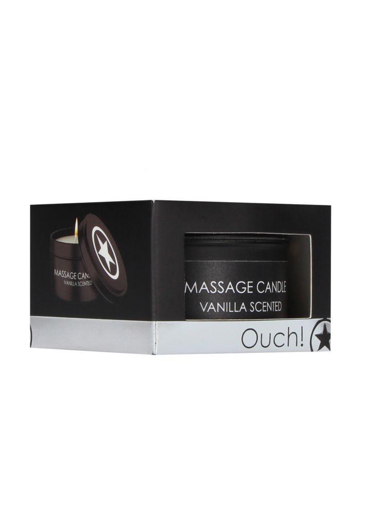Shots - Ouch! Massage Candle Vanilla Scented - masážní svíčka