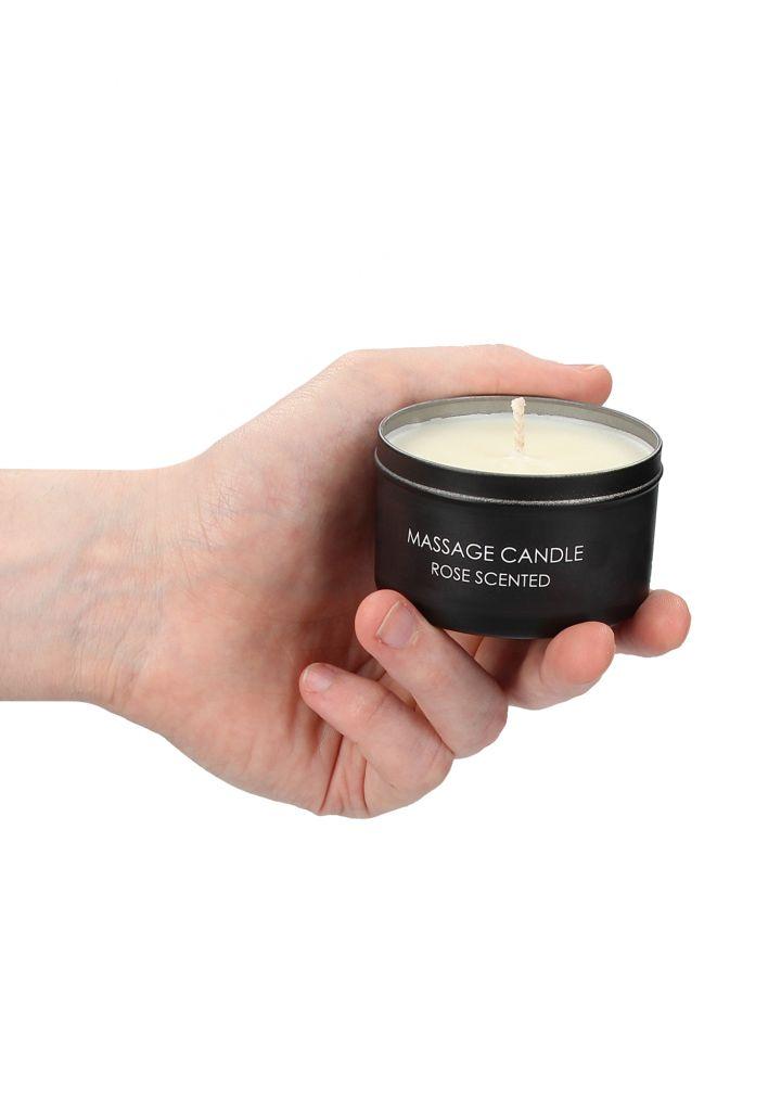 Shots - Ouch! Massage Candle Rose Scented - masážní svíčka