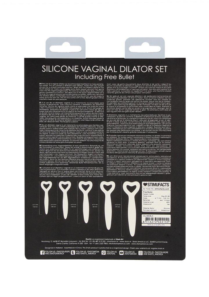 Shots - Silicone Vaginal Dilator Set - Black