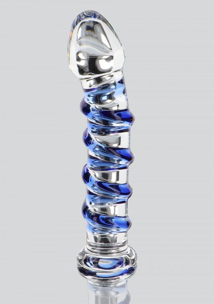 ToyJoy - Glass Worxx G-Spot Gemstone skleněné dildo