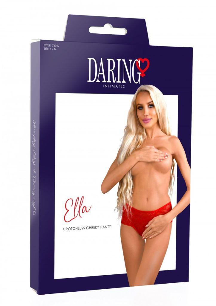 Daring Intimates Ella red L/XL - kalhotky s otevřeným rozkrokem
