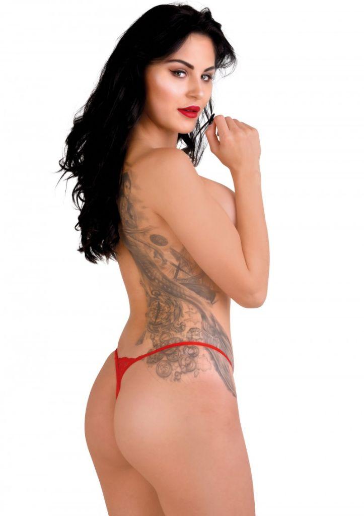 Daring Intimates Gina red S/M - sexy tanga